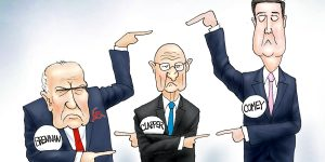 A.F. Branco Cartoon - Three Stooges