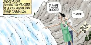 A.F. Branco Cartoon - Inconvenient Glaciers