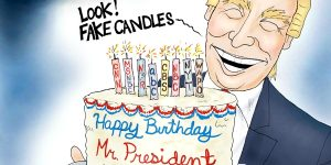 A.F. Branco Cartoon - Happy Birthday Mr. President