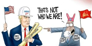 A.F. Branco Cartoon - Who Are We?
