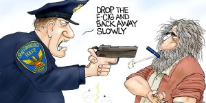 A.F. Branco Cartoon - Vaporizing Crime