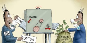A.F. Branco Cartoon - Blood Money