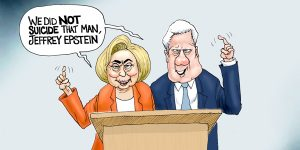 A.F. Branco Cartoon - With Friends Like These...