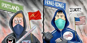 A.F. Branco Cartoon - Tyranny or Freedom
