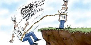 A.F. Branco Cartoon - Free Falling