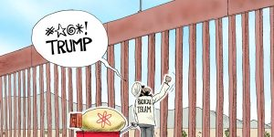 A.F. Branco Cartoon - Don't Fence Me In